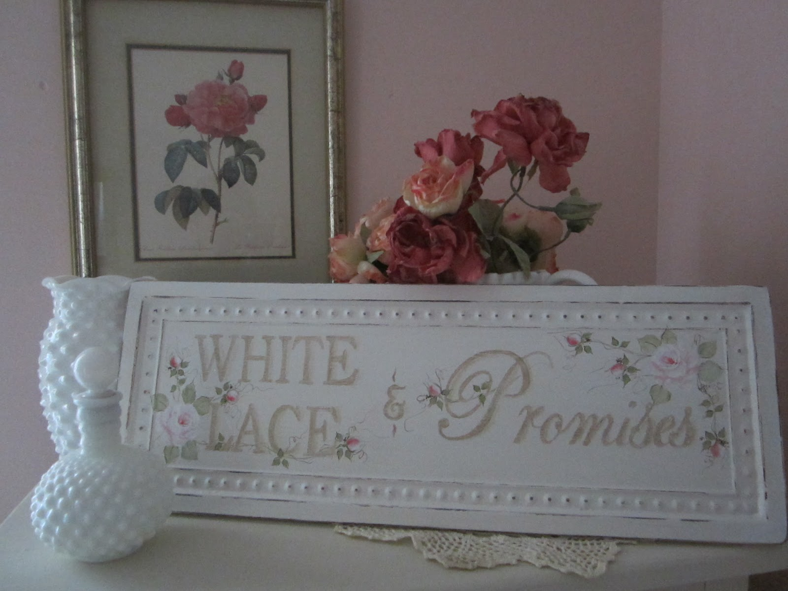 Vintage Girl 901: White Lace and Promises