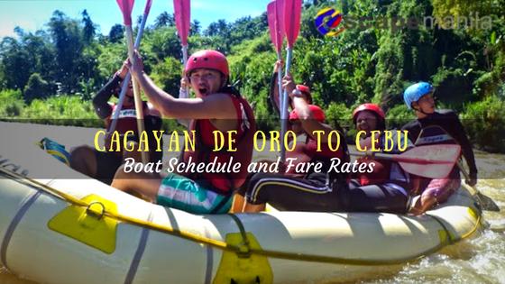 Cagayan de Oro to Cebu boat schedule