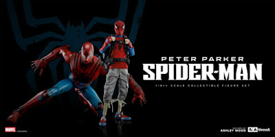 Marvel x ThreeA Peter Parker & Spider-Man Robot 1/6 Scale Collectible Figure Set
