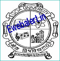 Goa University Admit Card