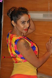 Telugu Actress Model Sri Reddy Latest Stills in Yellow Dress  0007.JPG