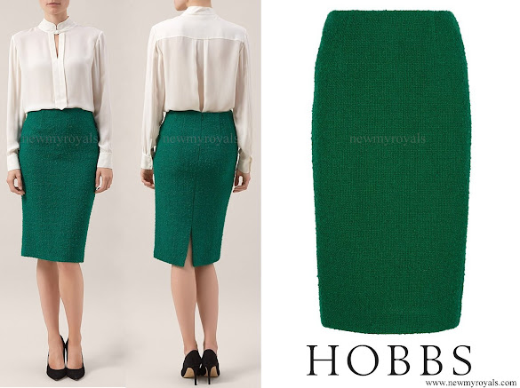 Kate Middleton wore Hobbs Green Sinead Skirt