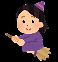 ハロウィンのキャラクター(魔女)