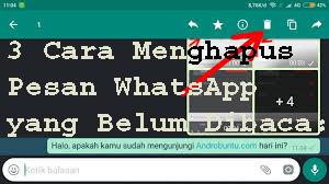 3 Cara Menghapus Pesan WhatsApp yang Belum Dibaca  1