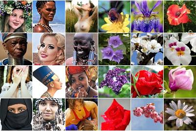 Фото Укринформ: цветы и женщины