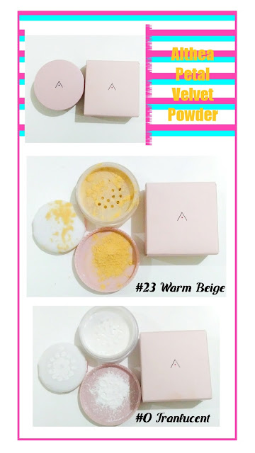 Althea Petal Velvet Powder Shades #0 and #23