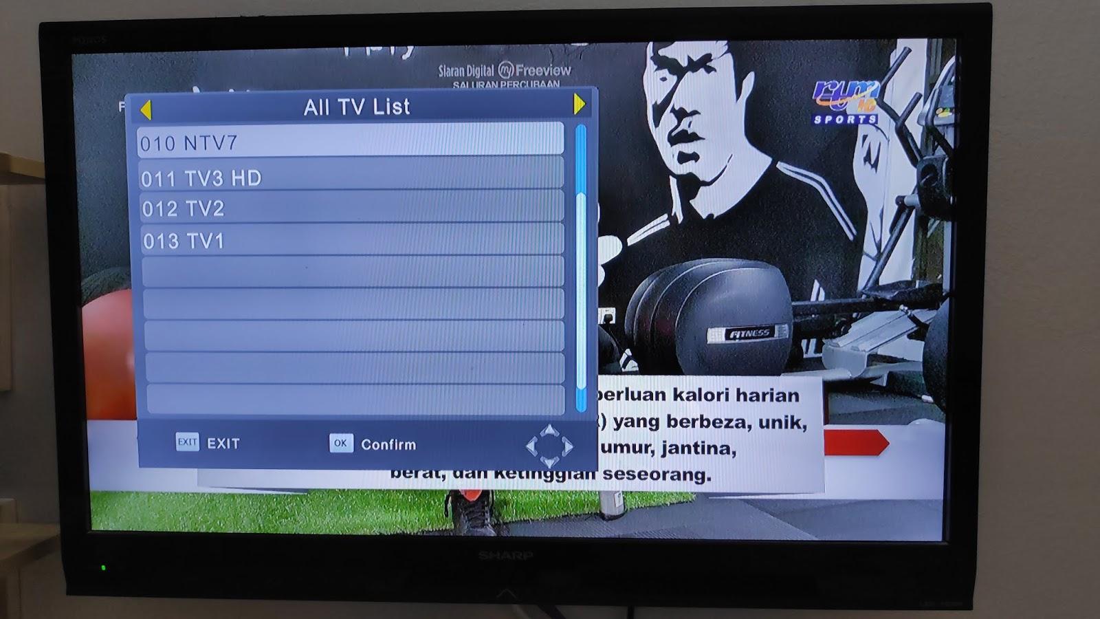 MYTV DVB-T2: CARA-CARA CARI SIGNAL MYTV DENGAN DEKODER DVB-T2