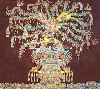 Der Weltenbaum in einem Wandgemälde in Teotihuacan - Baum des Lebens