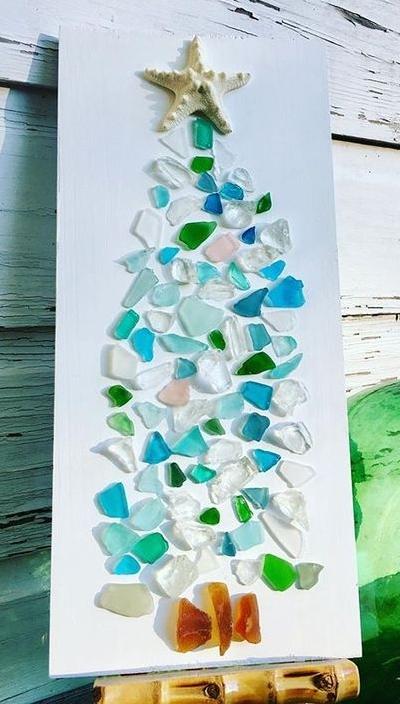 Sea Glass Christmas Tree Craft