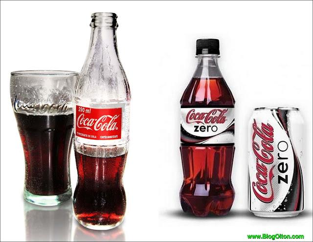 Veja a diferenca entre Coca Cola e Coca Zero