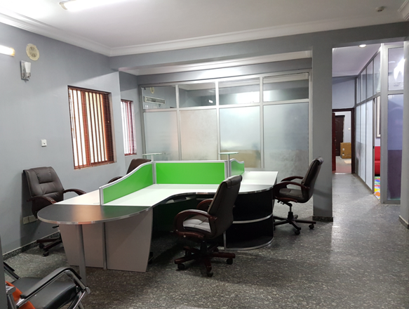 Linda Ikeji Staff room