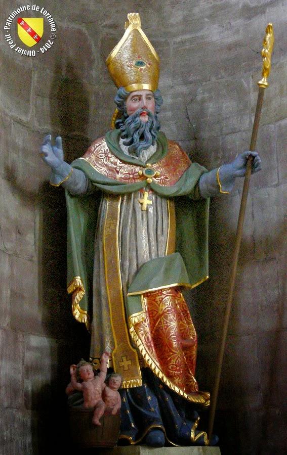 Saint-Nicolas (XIXe siècle) -  Statue en bois polychrome - Église Saint-Nabor à Saint-Avold (57)