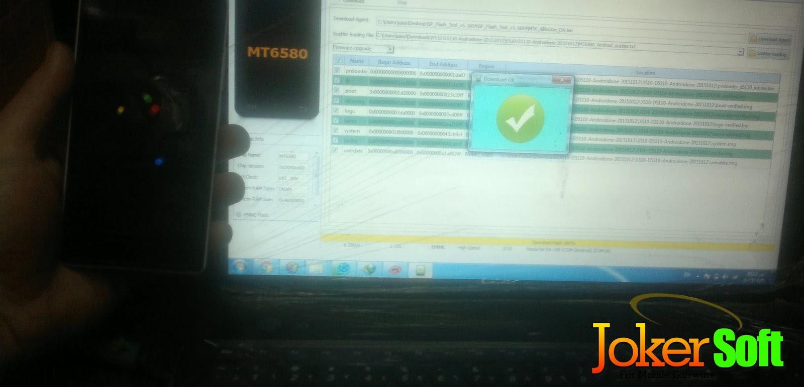 حل مشكلة هاتف إينفينكس Infinix Hot 2 X510 الفاصل بعد التفليش