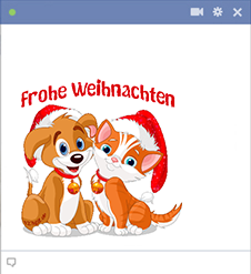 Frohe Weihnachten Facebook Emoticon