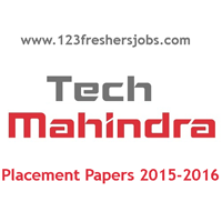 Tech Mahindra Placement Papers 2015-2016