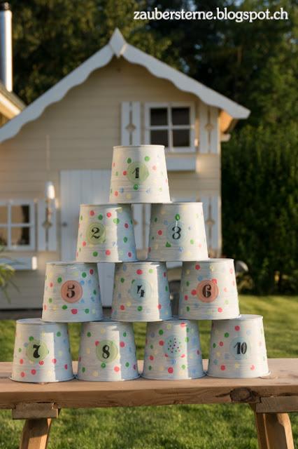 DIY Blog Schweiz, Büchsenwerfen, Kindergeburtstag, Konfettiparty, Lettering