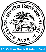 RBI Officer Grade B Admit Card