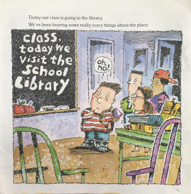 Class today we visit the school library
