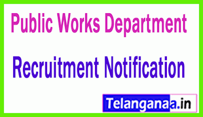 Public Works Department PWD Recruitment Notification