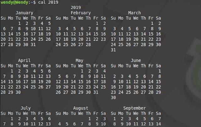 Cara Menampilkan Kalender Satu Tahun Dengan Terminal Linux