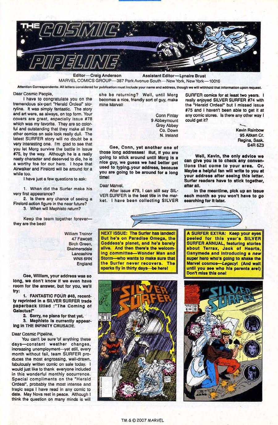 Read online Silver Surfer (1987) comic -  Issue #84 - 33
