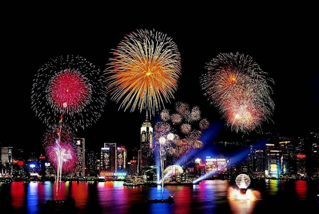 Hong Kong New Years Eve and Images