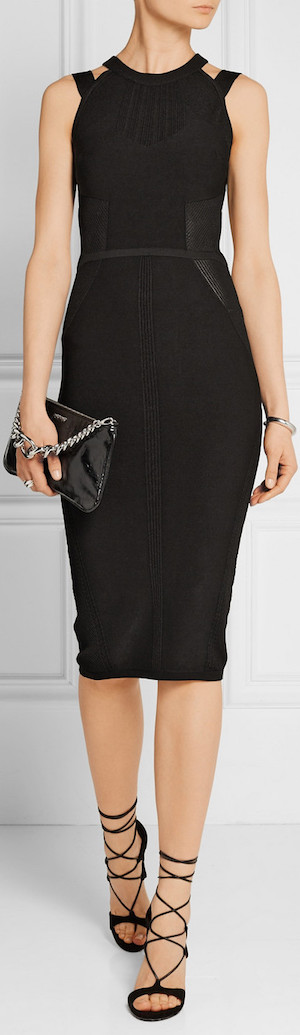 CUSHNIE ET OCHS Open-Back Stretch-Knit Dress