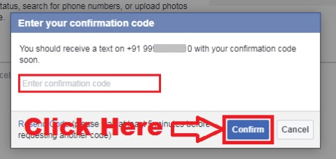 how to add your mobile number to facebook
