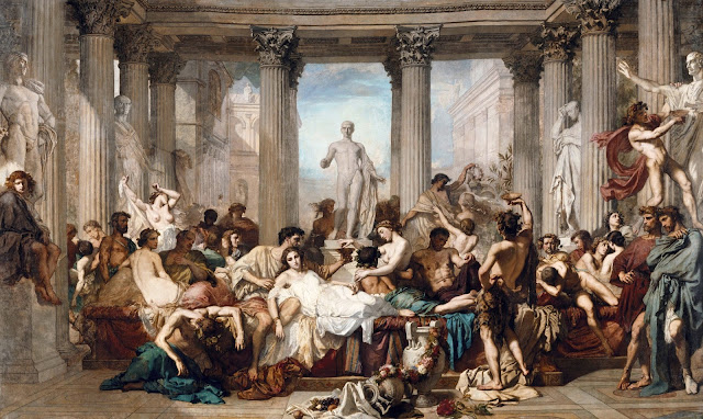 Romans during the Decadence by Thomas Couture (1847)