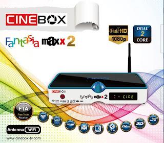 ATUALIZAÇÃO CINEBOX FANTASIA MAXX2  DUAL CORE - 30/04/2016