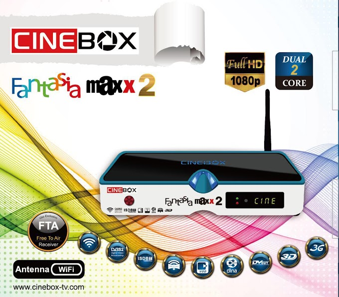 CINEBOX FANTASIA MAXX2 DUAL CORE NOVA ATUALIZAÇÃO - 30/04/2016