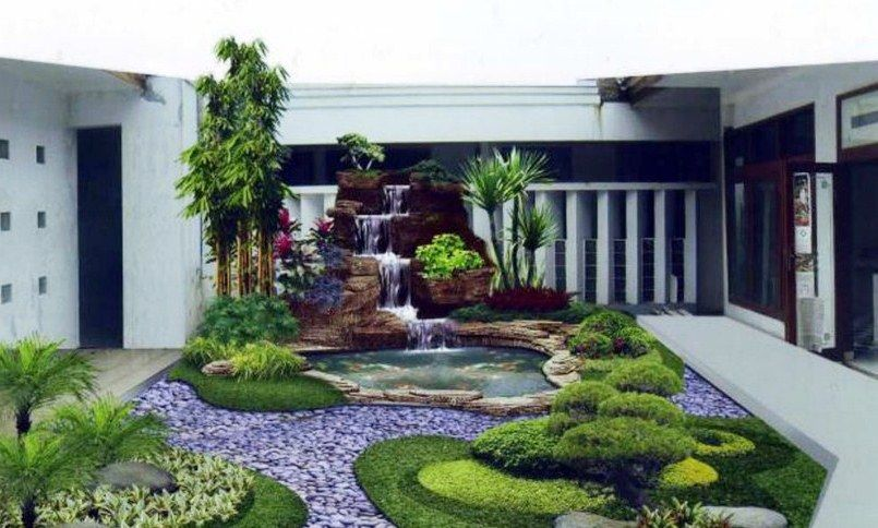 Gambar Taman Minimalis Belakang Rumah Mewah