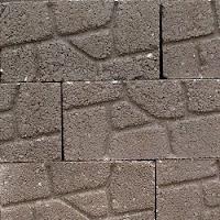 Block macizo estampado tipo Piedra Cortada