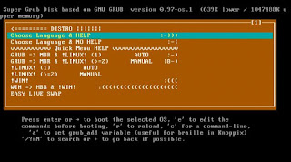 Download Super Grub Disk to recover the boot of your operating system