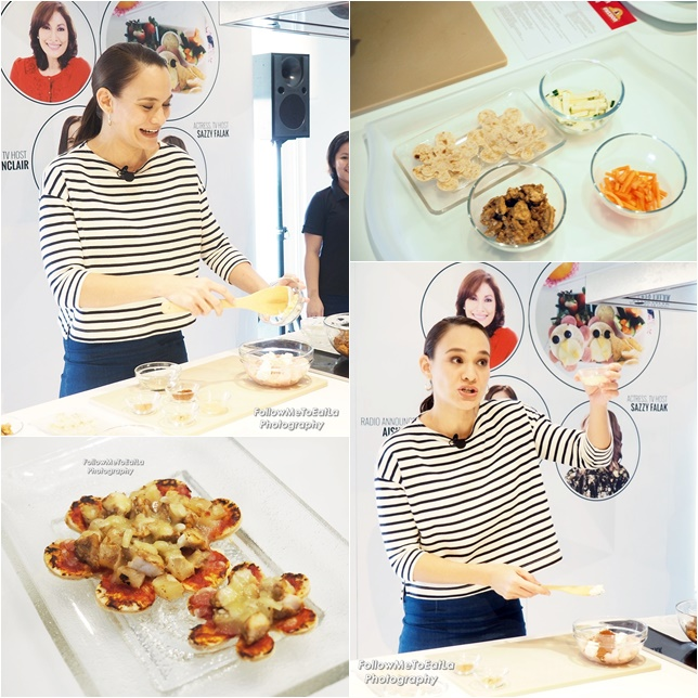 Celebrity Mom, Aishah Sinclair In Action Whipping Out Her Tandoori Chicken Pizza
