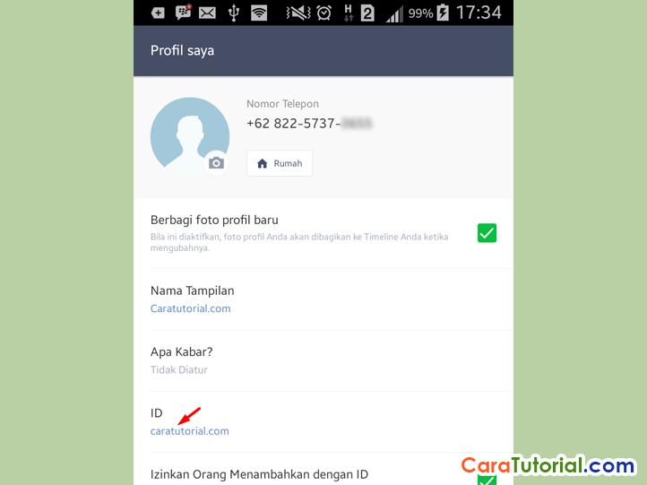User ID LINE Messenger Caratutorial.com