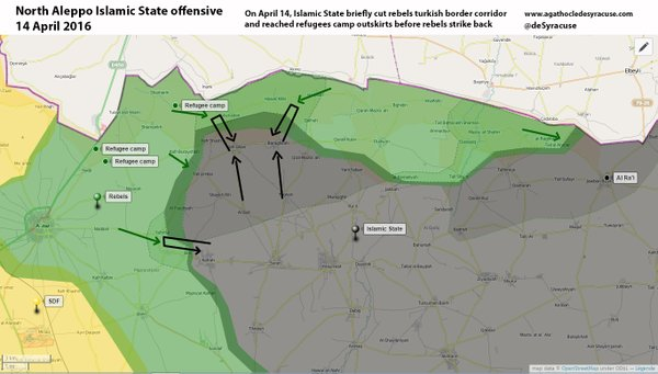 map north aleppo isis fsa