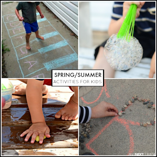 Spring/summer activities and crafts for kids from And Next Comes L