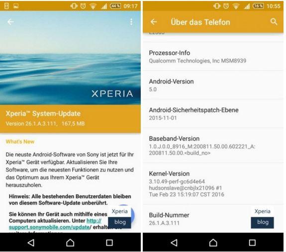 Sony Xperia M4 Aqua and M4 Aqua Dual gets Android 5 0