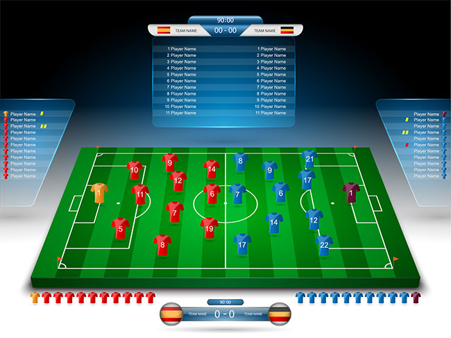 Football Vector Elements for Infographics 03 by Saltaalavista Blog