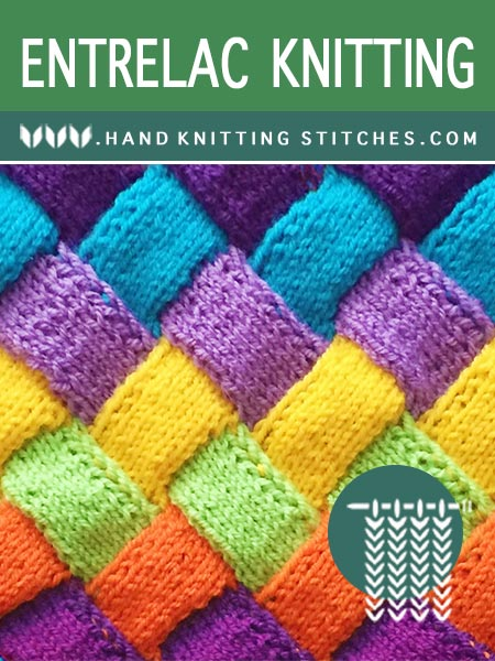 Hand Knitting Stitches - Stockinette Entrelac Pattern #entrelacknitting