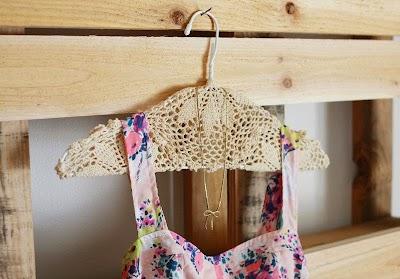 Como hacer Perchas Vintage con Tapetes de Crochet