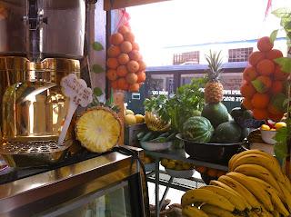 Fruit juice stand Tel Aviv Jaffa Israel