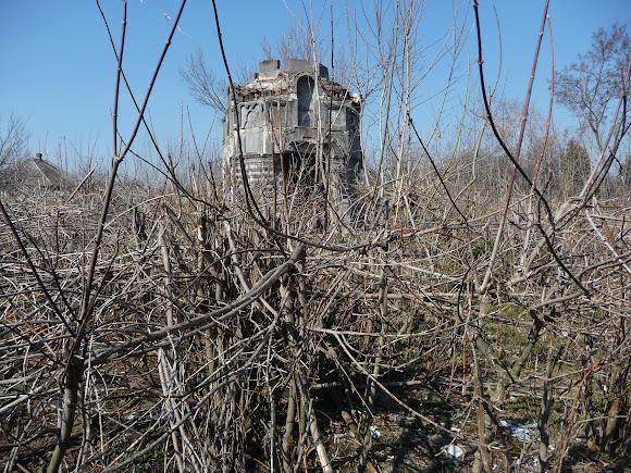 Слов'янськ. Закритий і занедбаний цвинтар. Склеп-каплиця Залеського 19 в.