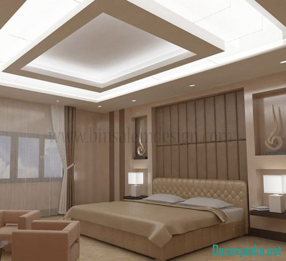 Bedroom With High Ceiling Interior Design Art For Grey Bedroom Bedroom Color Ideas For White Furniture Feng Shui Bedroom Colors List: New 70 Pop False Ceiling Designs For Bedroom 2019