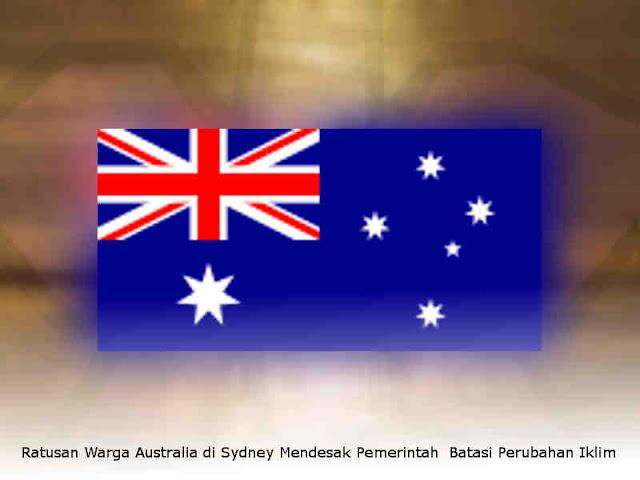 Ratusan Warga Australia di Sydney Mendesak Pemerintah  Batasi Perubahan Iklim