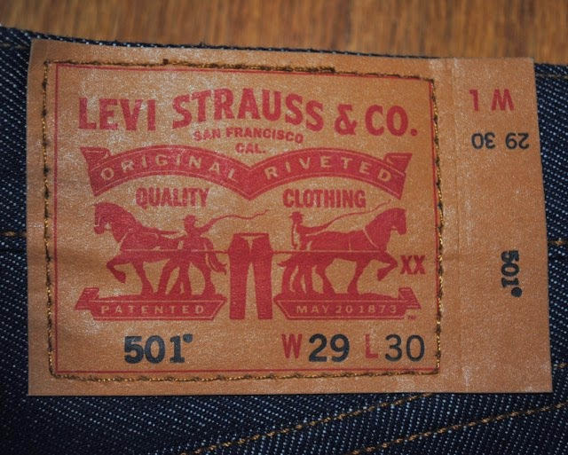 Levis 501STF Patch has kept having conic Two Horse Mark