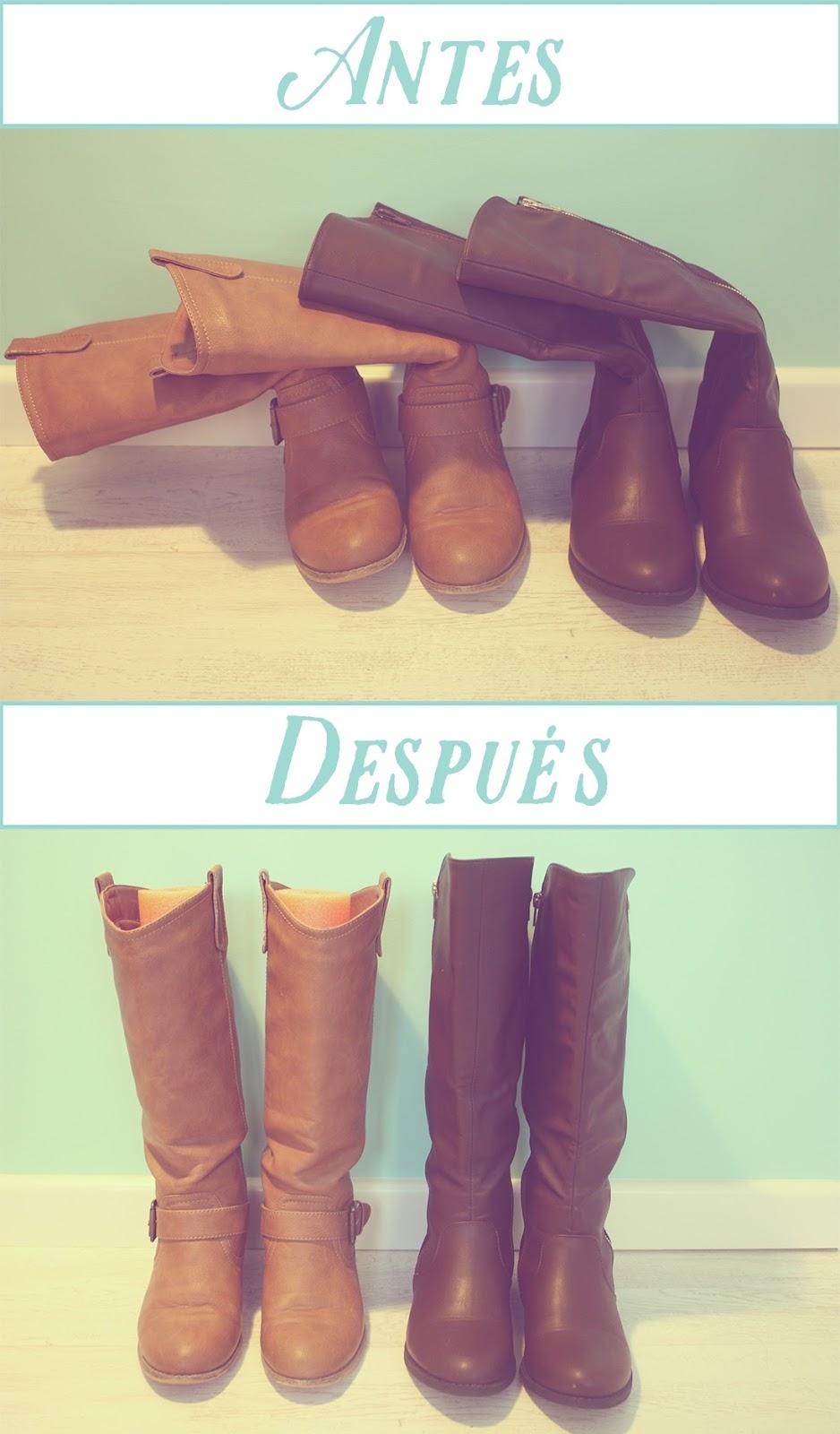 Resultado DIY manten tus botas a raya Punto de Lu