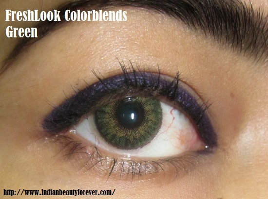 FRESHLOOK colorblends in Green.
