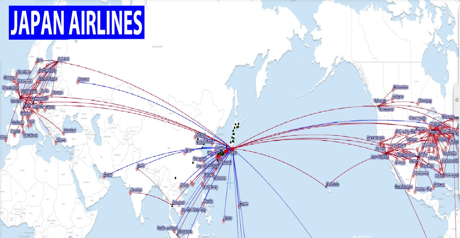 international flights: Japan Airlines route map on delta international route map, finnair route map, united airlines route map, american airlines international route map, air france route map, flight route map, cathay pacific route map, etihad route map, alitalia route map, air china international route map, cuba route map, lufthansa route map, delta air lines route map, world airline route map, china airlines route map, japan airlines route map, klm route map, iberia route map, europe by air route map, united states route map,